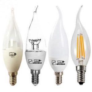 انواع لامپ ال ای دی برای لوستر
