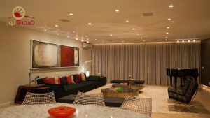 لامپ هالوژن سقفی لنزدار